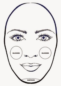 oblong face shape contour
