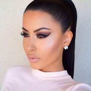 @amrezy, Instaglam makeup, illuminator, winged liner