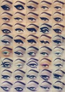 Eyeliner, eyeliner types, winged liner