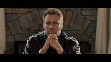 Talladega Nights, Ricky Bobby praying