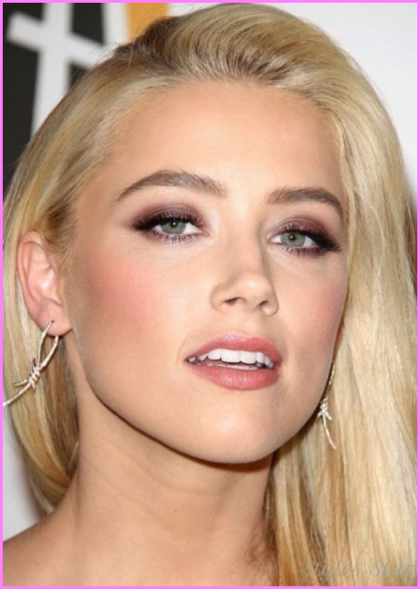 Amber Heard, Amber Heard makeup, Celebrity makeup, Brown smokey eye